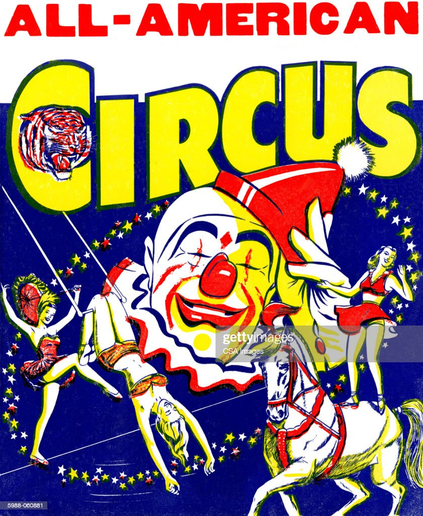 Circus poster stock illustration getty images for Circus posters free