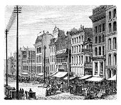 chicago clarkstreet before big fire 1871the