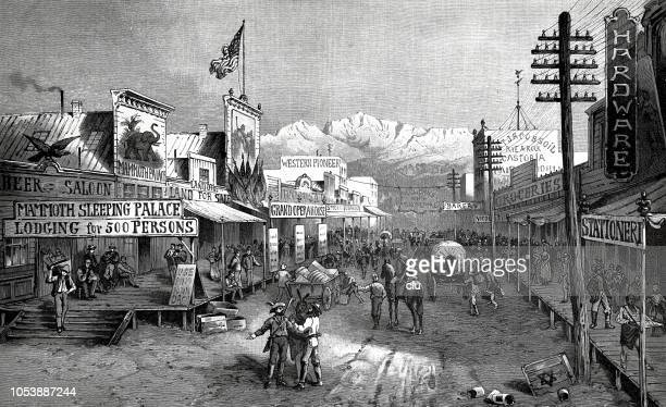 A city in the wild west of America - main street