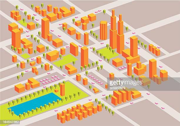 ilustrações, clipart, desenhos animados e ícones de mapa da cidade - mapa de rua