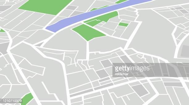都市地図ナビゲーション - 境界線点のイラスト素材/クリップアート素材/マンガ素材/アイコン素材