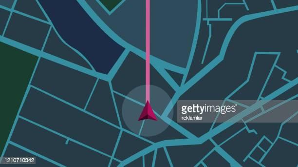 シティマップナビゲーションナイト - 副操縦士点のイラスト素材/クリップアート素材/マンガ素材/アイコン素材
