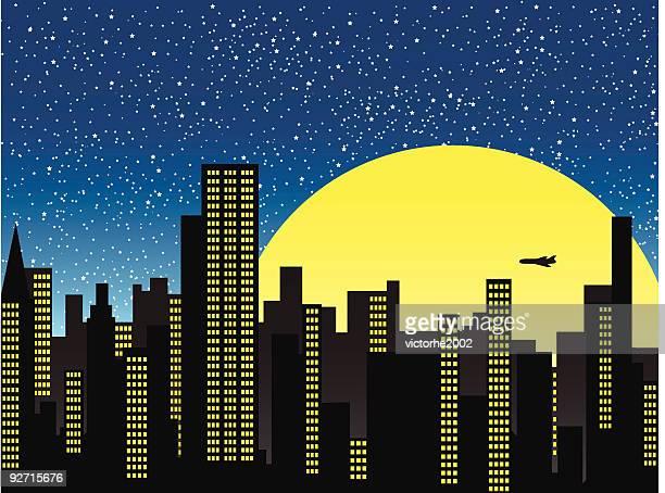 街の夜景 - clip art点のイラスト素材/クリップアート素材/マンガ素材/アイコン素材
