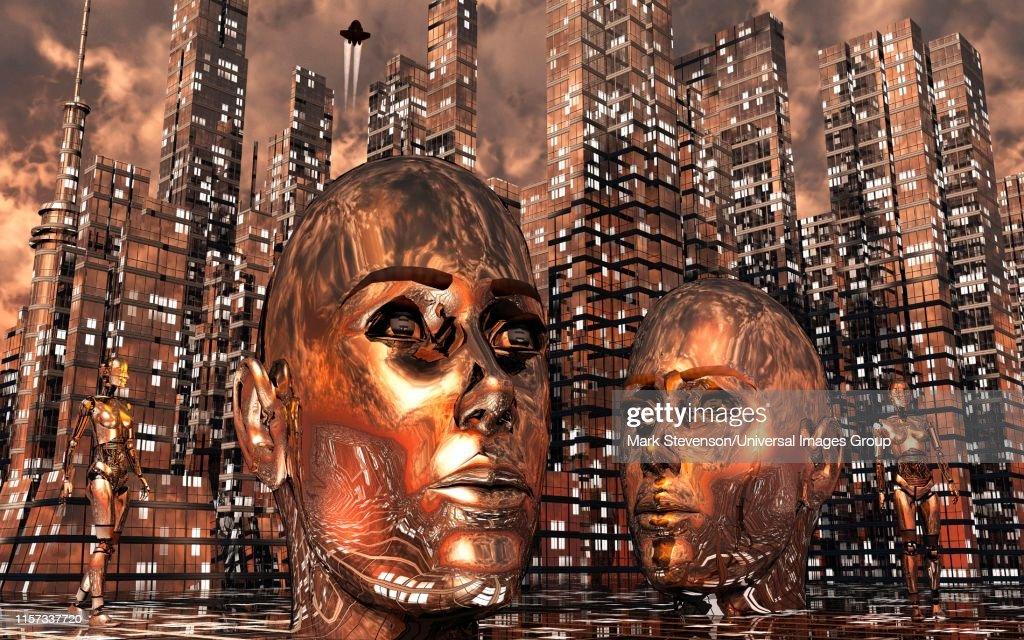 City Run By Artificial Intelligence. : stock illustration