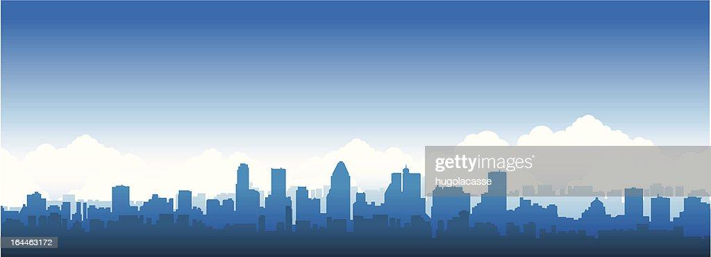 City skyline banner