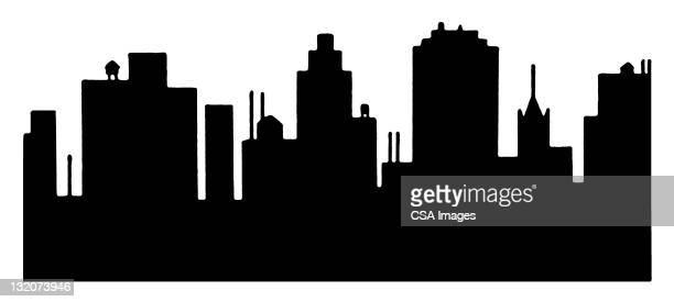 city skyline - image stock illustrations