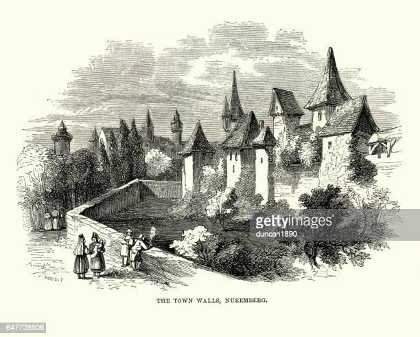 City Walls of Nuremberg, Germany, 19th Century