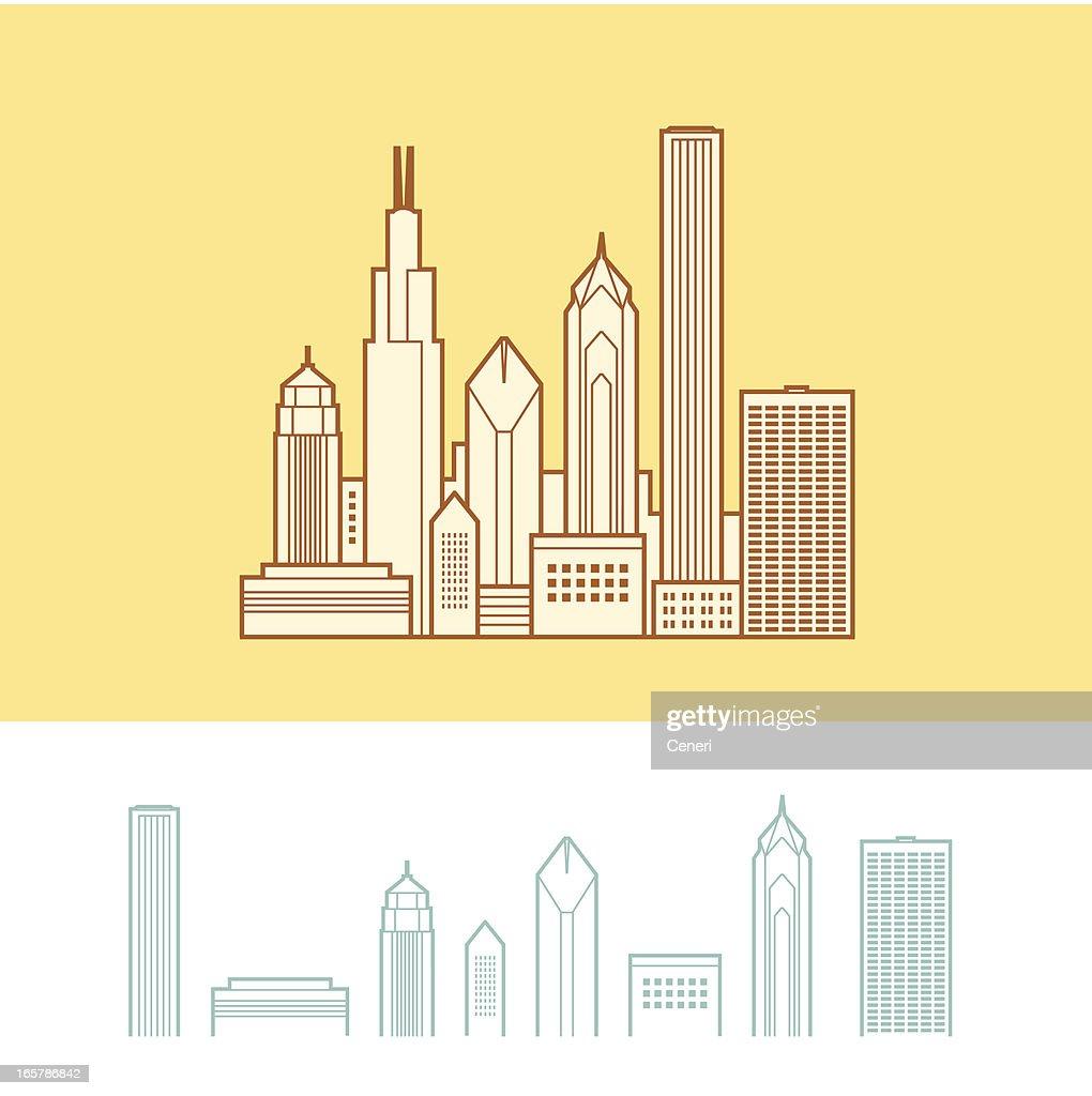 Cityscape of Chicago, Illinois, USA