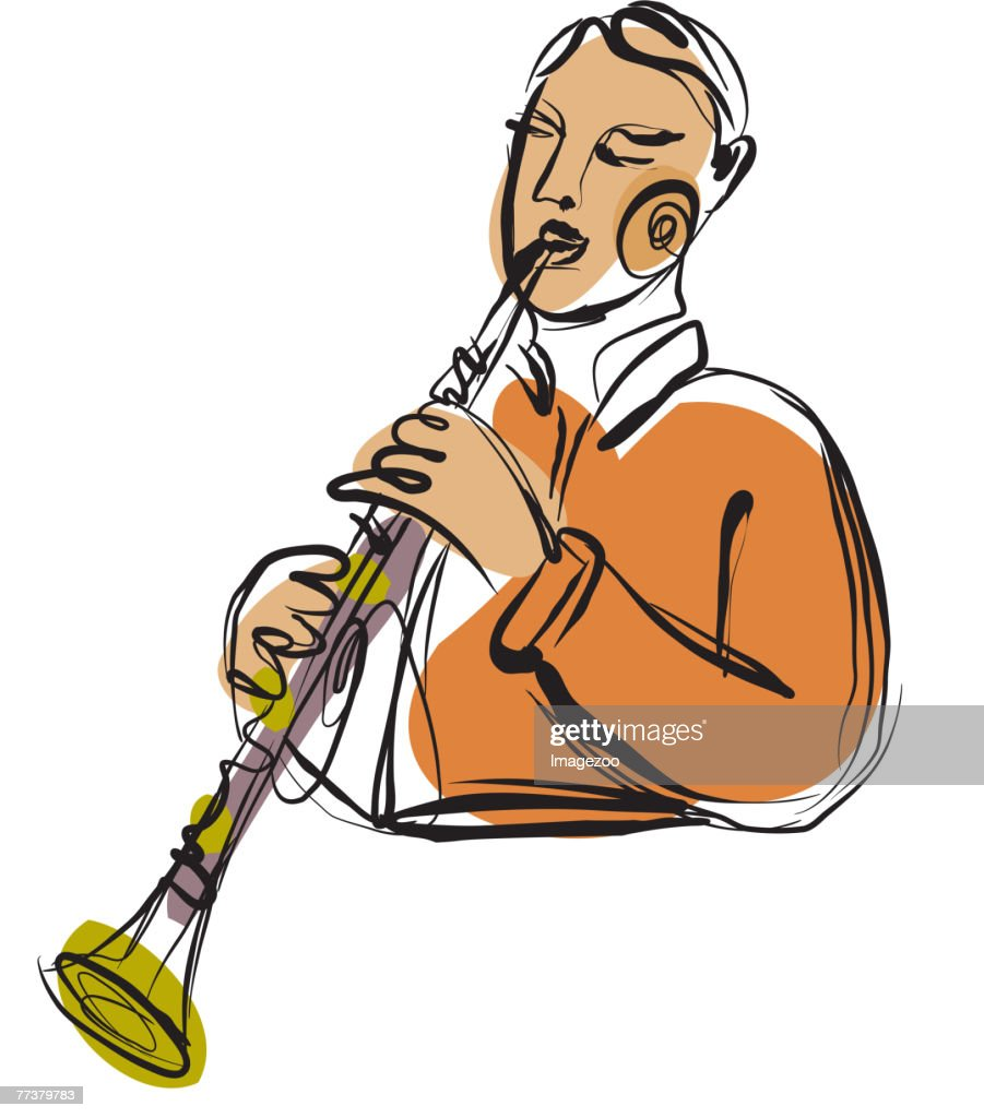 clarinet player : Illustration