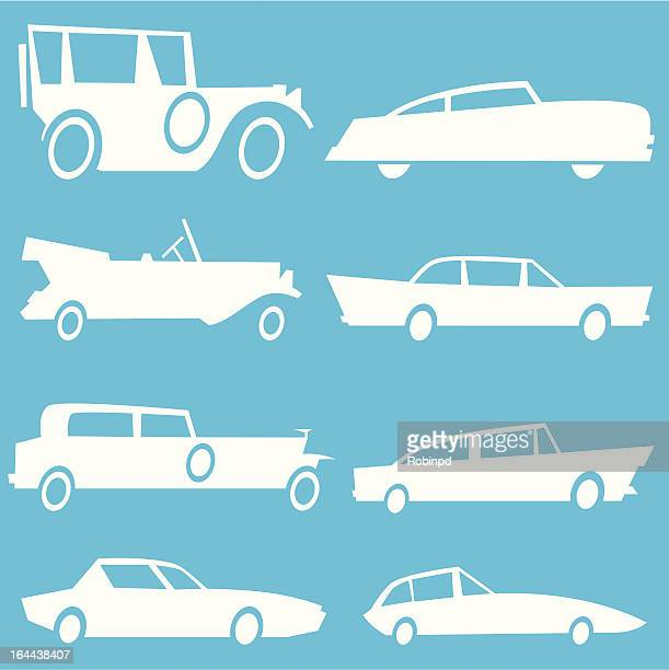 classic cars - low rider stock illustrations