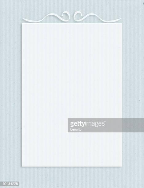 クラシックな紙のブルーフレーム