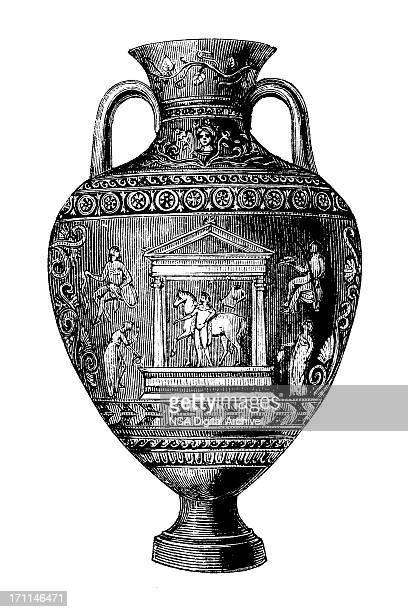 classic vase | antique design illustrations - classical greek style stock illustrations