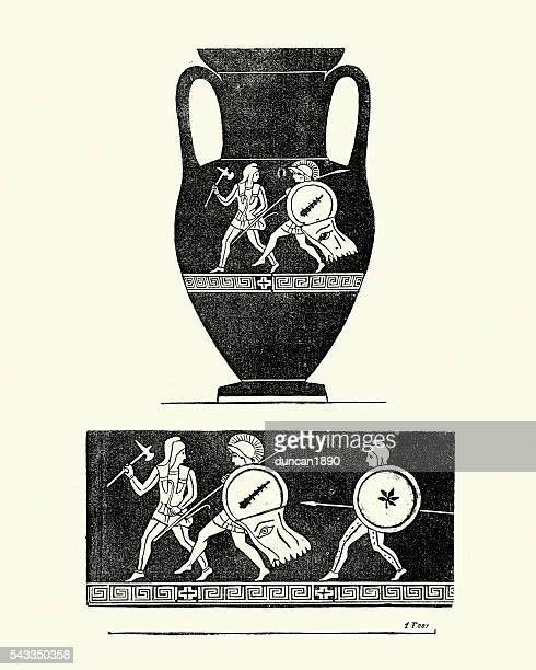 classical ancient greek urn - pottery stock illustrations, clip art, cartoons, & icons