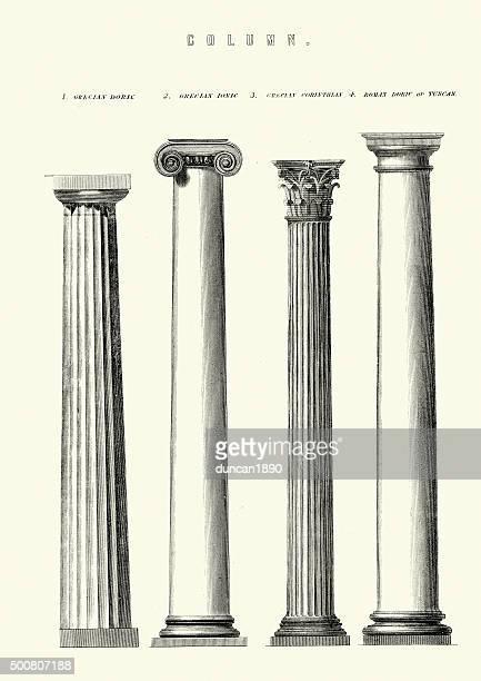 クラシックな建築デザイン-柱 - 柱点のイラスト素材/クリップアート素材/マンガ素材/アイコン素材