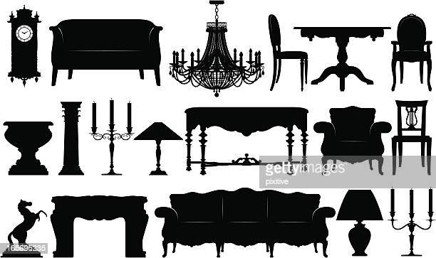 Classical Furniture Silhouettes