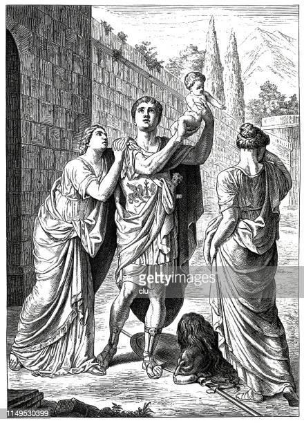 illustrations, cliparts, dessins animés et icônes de grec classique, déesse andromache - ulysse