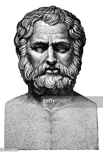 classical greek, bust of bias, speaker and lawyer - classical greek style stock illustrations
