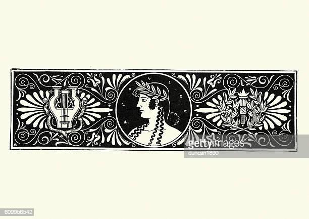 classical greek hero design - greek mythology stock illustrations, clip art, cartoons, & icons