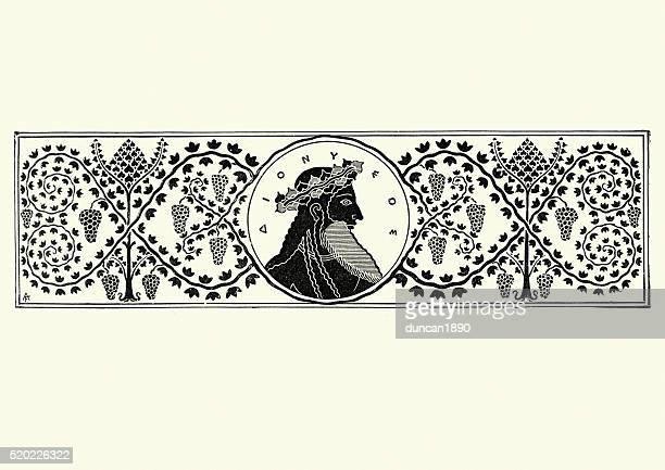 classical greek style banner - greek gods stock illustrations, clip art, cartoons, & icons