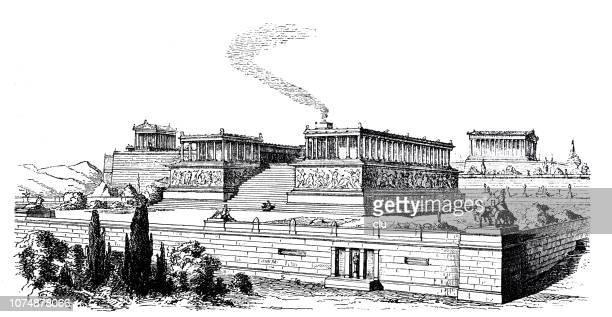 古典ギリシャ語、ペルガモンのゼウスの祭壇 - ペルガモン点のイラスト素材/クリップアート素材/マンガ素材/アイコン素材