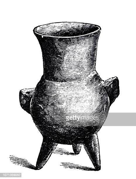 classical greek - tripod saucepan - camera tripod stock illustrations, clip art, cartoons, & icons