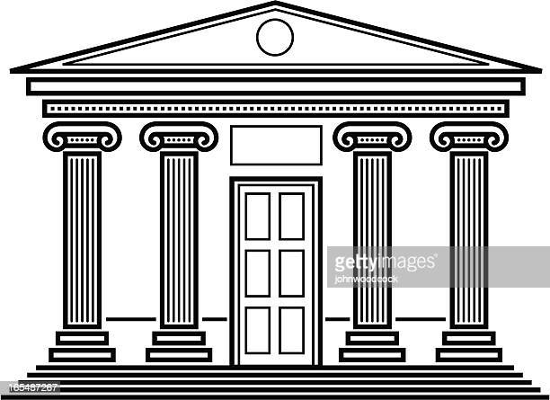 classical temple. - classical greek style stock illustrations