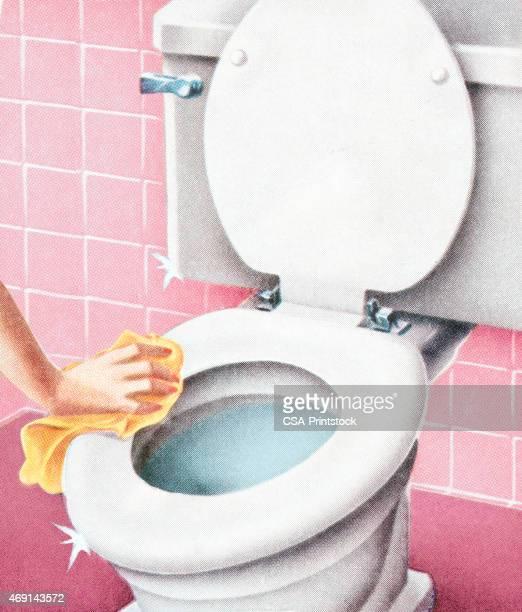のトイレ洗浄 - bathroom点のイラスト素材/クリップアート素材/マンガ素材/アイコン素材