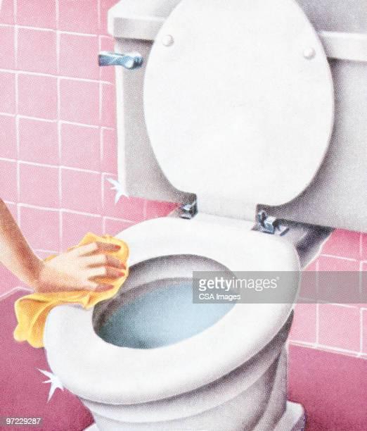 ilustraciones, imágenes clip art, dibujos animados e iconos de stock de limpiar el baño - lavado de manos