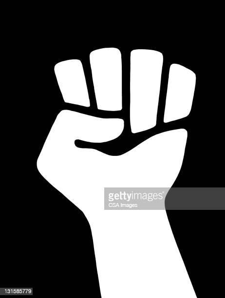 clenched fist raised - 拳点のイラスト素材/クリップアート素材/マンガ素材/アイコン素材