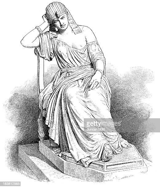 illustrazioni stock, clip art, cartoni animati e icone di tendenza di cleopatra - cleopatra