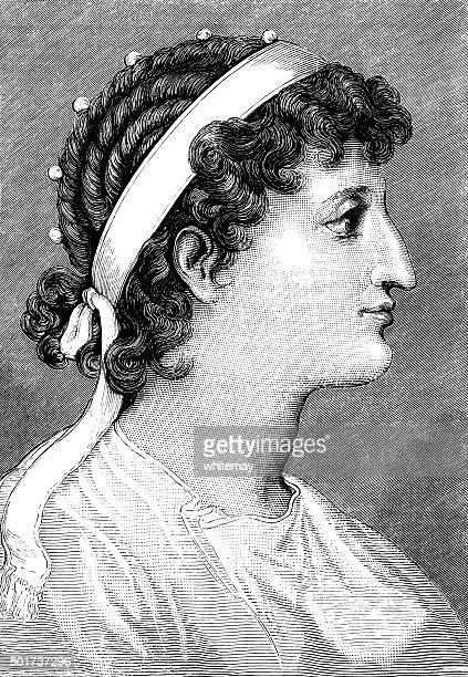 illustrazioni stock, clip art, cartoni animati e icone di tendenza di cleopatra, queen dell'egitto - cleopatra