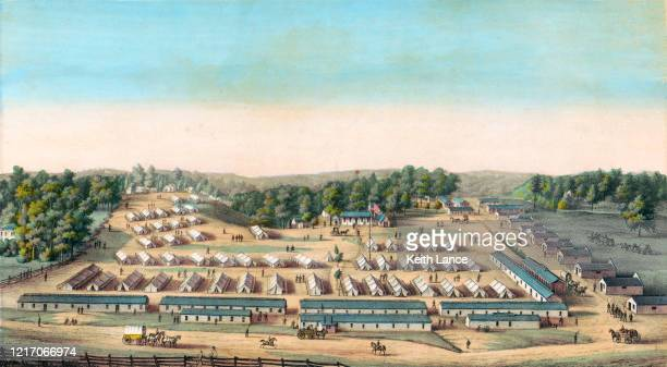 南北戦争中のクリフバーン病院 - 1800~1809年点のイラスト素材/クリップアート素材/マンガ素材/アイコン素材