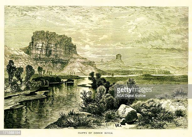 Cliffs of the Green River, USA | Historic American Illustrations