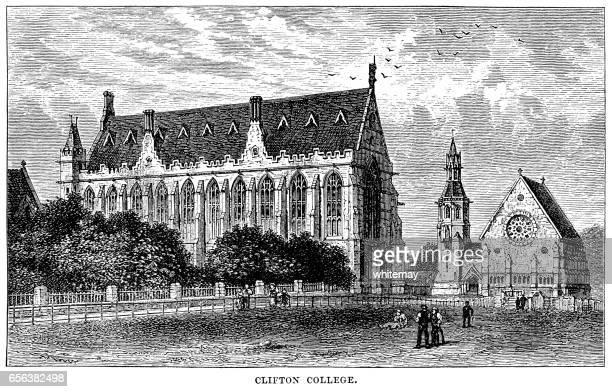 Clifton College, Bristol (Victorian engraving)