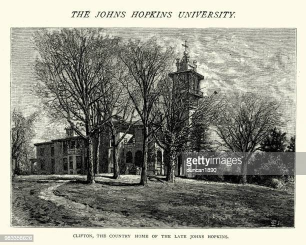 Clifton, county home of Johns Hopkins, 19th Century