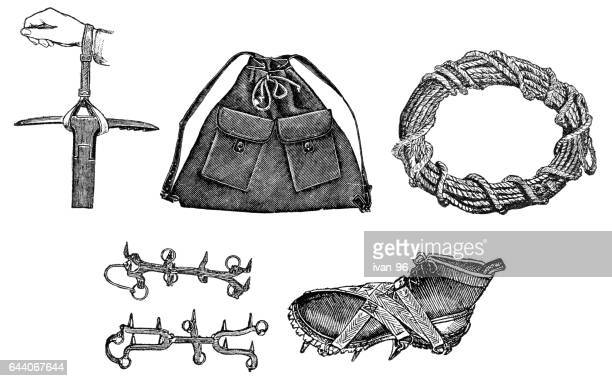 Climbing tools with boots