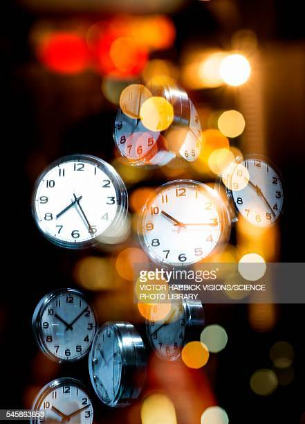 clock faces, illustration - time stock illustrations