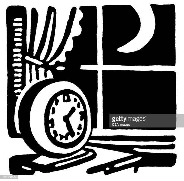 clock - alertness stock illustrations