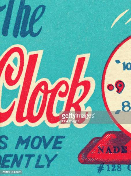 clock packaging - time stock illustrations