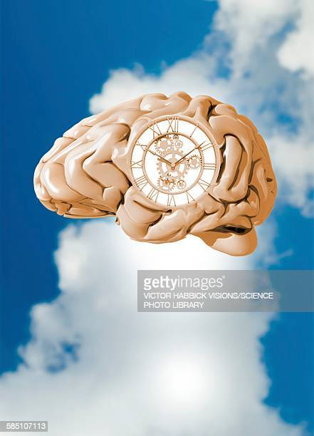 clockwork brain, illustration - the past stock illustrations