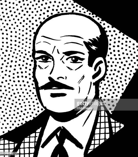 Close up of Bald Man in Suit