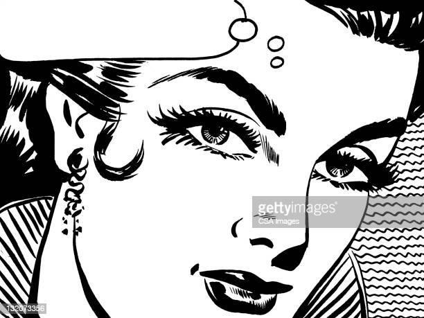 ilustraciones, imágenes clip art, dibujos animados e iconos de stock de primer plano de mujeres de pelo oscuro y burbuja de globos - mujeres de mediana edad