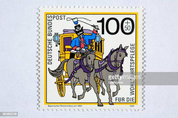 close up of german post stamp - 1900 stock illustrations