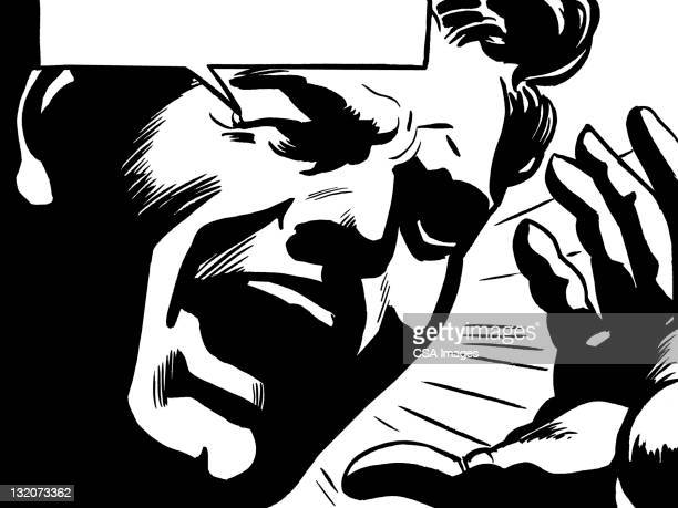 Close up of Man Yelling With Speech Balloon