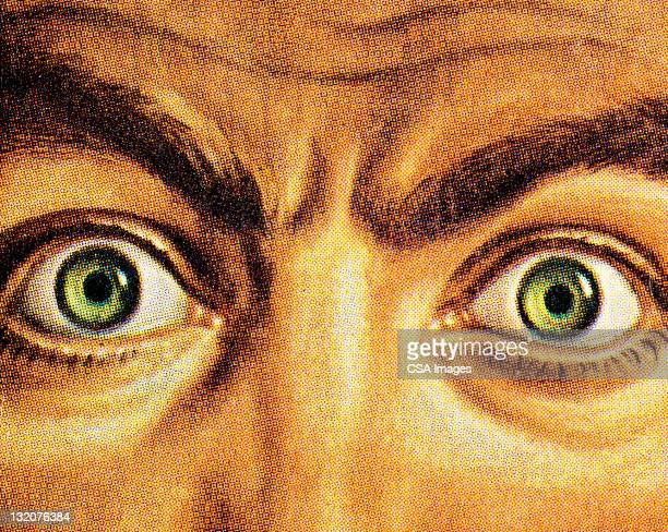 Close Up of Wide Eyed Man