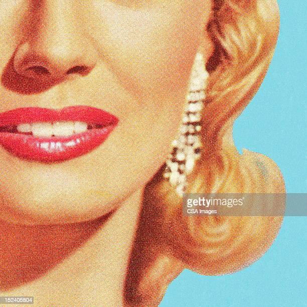 ilustrações de stock, clip art, desenhos animados e ícones de close up of woman's face - loira