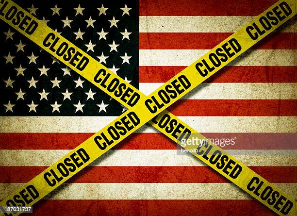 closed america - closed sign stock illustrations, clip art, cartoons, & icons