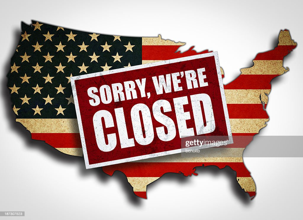 Closed America : stock illustration