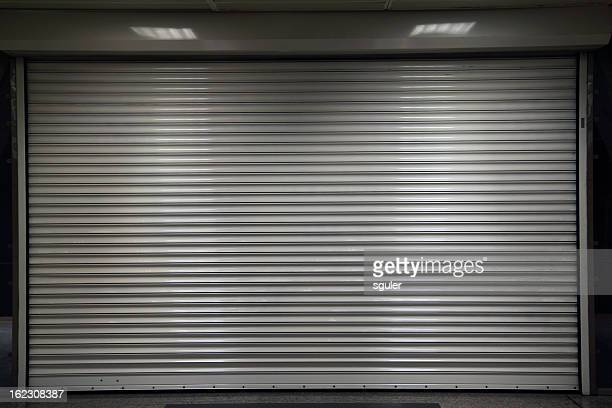 closed steel door - automated stock illustrations