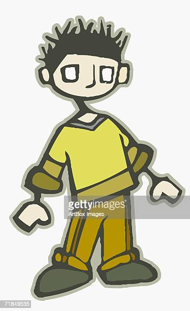 close-up of a boy standing - 8 9 years stock illustrations, clip art, cartoons, & icons